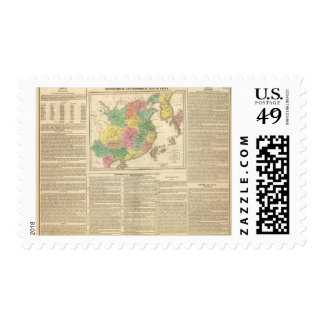 China and Japan Atlas Map Postage