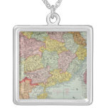 China and Malaysia Square Pendant Necklace