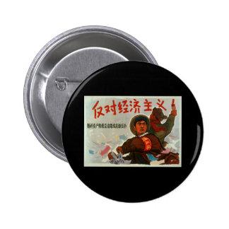 China Anti Capitalism Button