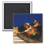 China, Badaling, Great Wall, view of 2 Inch Square Magnet