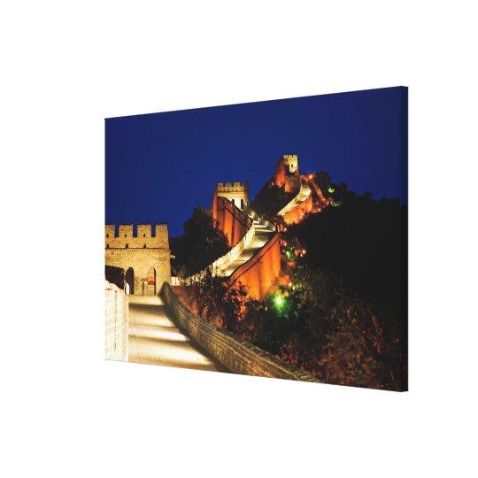 China, Badaling, Great Wall, view of Canvas Print