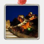 China, Badaling, Great Wall, view of Christmas Ornament