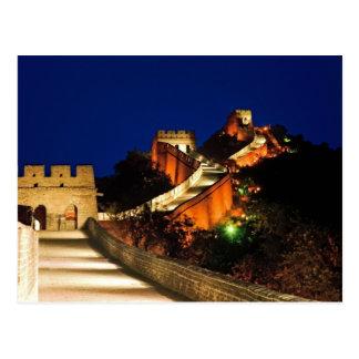China, Badaling, Great Wall, view of Postcard