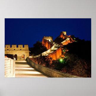 China, Badaling, Great Wall, view of Print