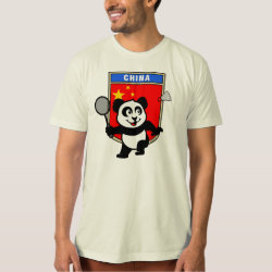 Chinese Badminton Panda Men's American Apparel Organic T-Shirt
