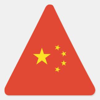 China - bandera china pegatina triangular