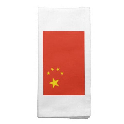 China; Bandera china Servilleta