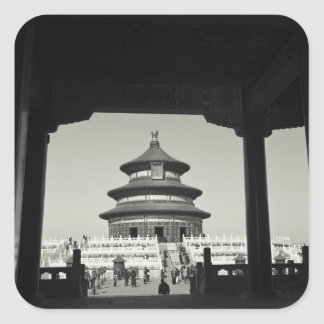 China, Beijing, Chongwen District. Temple of 2 Square Sticker