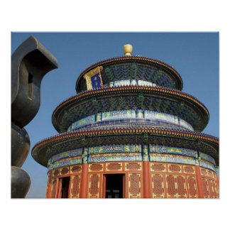 China, Beijing, Temple of Heaven, Chinese Urn in Poster