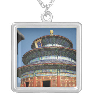 China, Beijing, Temple of Heaven, Chinese Urn in Silver Plated Necklace