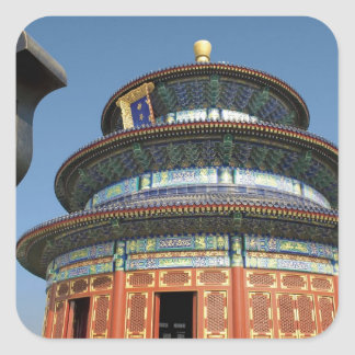 China, Beijing, Temple of Heaven, Chinese Urn in Square Sticker