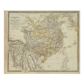 China, Birman Empire, Coch in China, Siam Poster