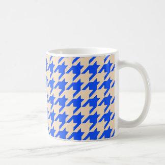 China Blue Houndstooth Coffee Mug