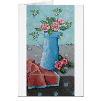 China Blue Jug Art Card