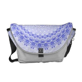China Blue Mandala Kaleidoscope Messenger Bag