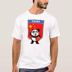 Men's Basic T-Shirt with Chinese Boxing Panda design