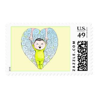 China Boy stamp