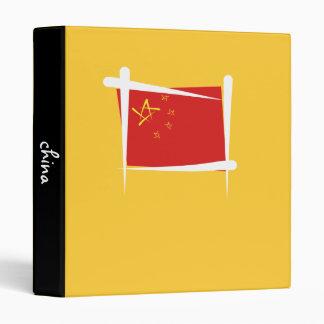 China Brush Flag 3 Ring Binder