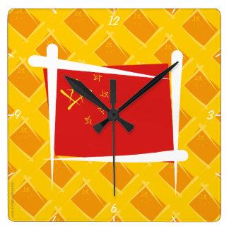 China Brush Flag Square Wallclocks