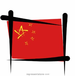 China Brush Flag Cutout