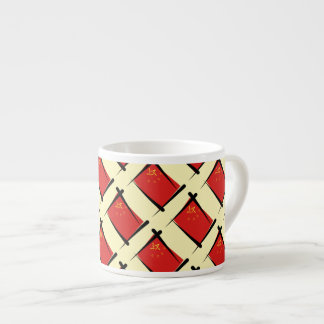 China Brush Flag Espresso Cup