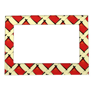 China Brush Flag Magnetic Picture Frame