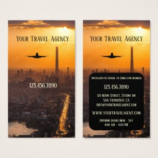 China Business Travel Agency Business Card