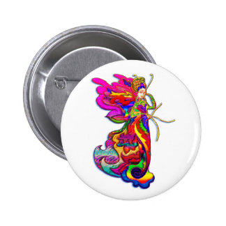 China Butterfly Woman Button