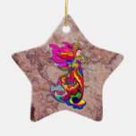 China Butterfly Woman Double-Sided Star Ceramic Christmas Ornament