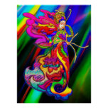 China Butterfly Woman Posters