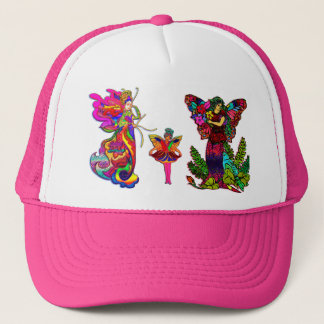 China Butterfly Women and Girl Trucker Hat