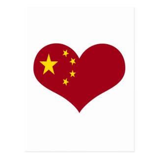 China Chinese Asia flag Postcard