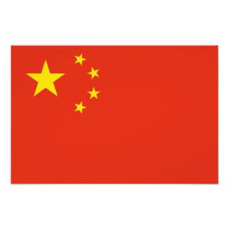China – Chinese Flag Photo Print
