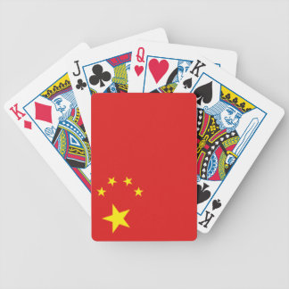 China chinese flag bicycle playing cards