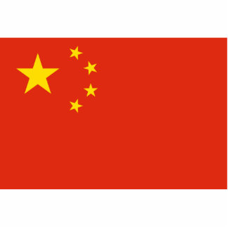 China – Chinese Flag Standing Photo Sculpture