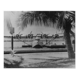 China Clipper Mooring on Hawaiian Island Poster