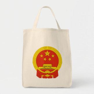 china coat of arms tote bag