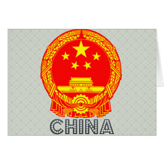 China Coat of Arms Cards