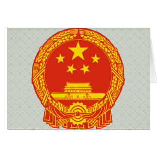 China Coat of Arms detail Greeting Cards
