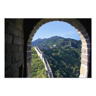 China, condado de Huairou, sección de Mutianyu del Fotografia