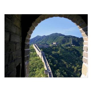China, condado de Huairou, sección de Mutianyu del Tarjeta Postal