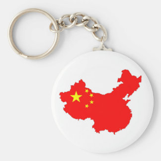 china country flag map shape chinese keychain