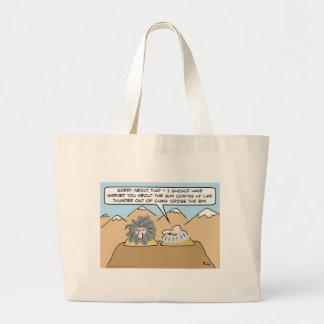 china cross the bay sun dawn thunder kipling large tote bag
