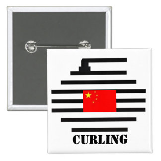 China Curling 2 Inch Square Button