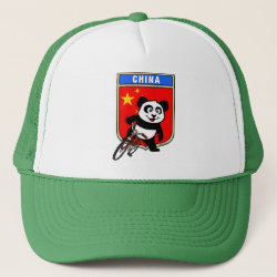 Trucker Hat with China Cycling Panda design