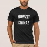 China de Howzit - argot del RSA Playera