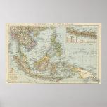 China de Indo y archipiélago del malasio Póster