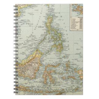 China de Indo y archipiélago del malasio Spiral Notebook