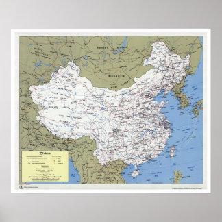 China detalló el mapa - 1979 poster