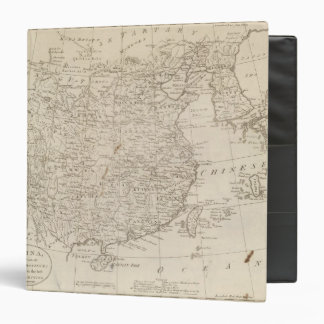 China, divided into it's Great Provinces 3 Ring Binder